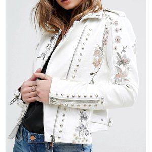Blank NYC Midsummer Dream Jacket Floral Moto Coat